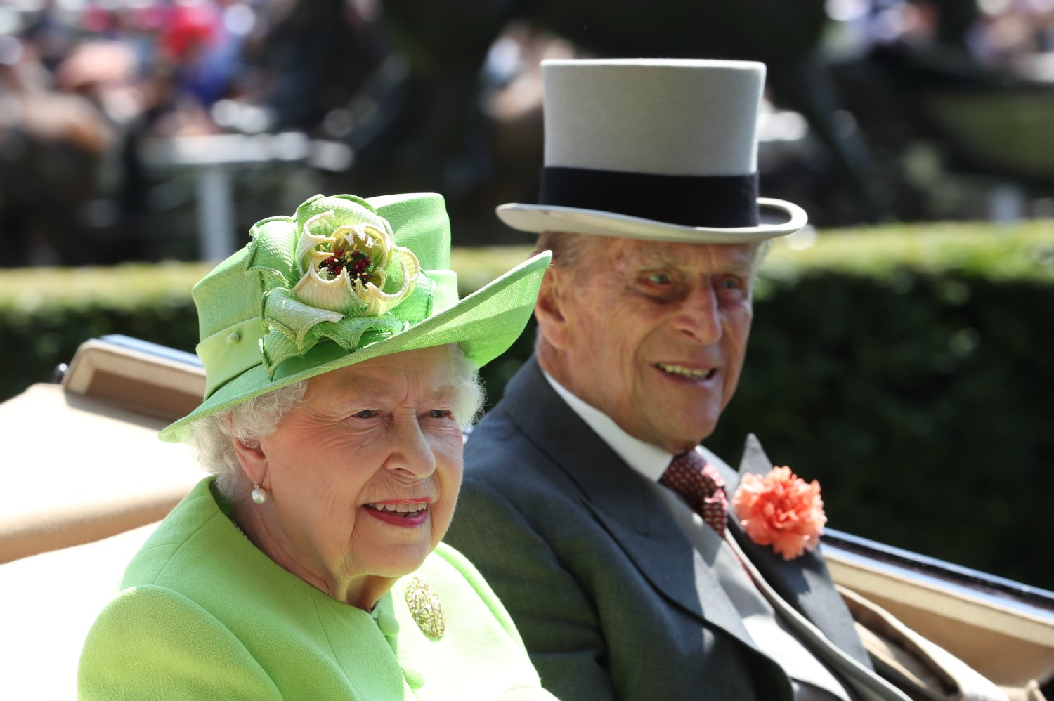 The Queen and Prince Philip during the royal procession at Royal Ascot in 2017. Picture by Stephen Lock / i-Images