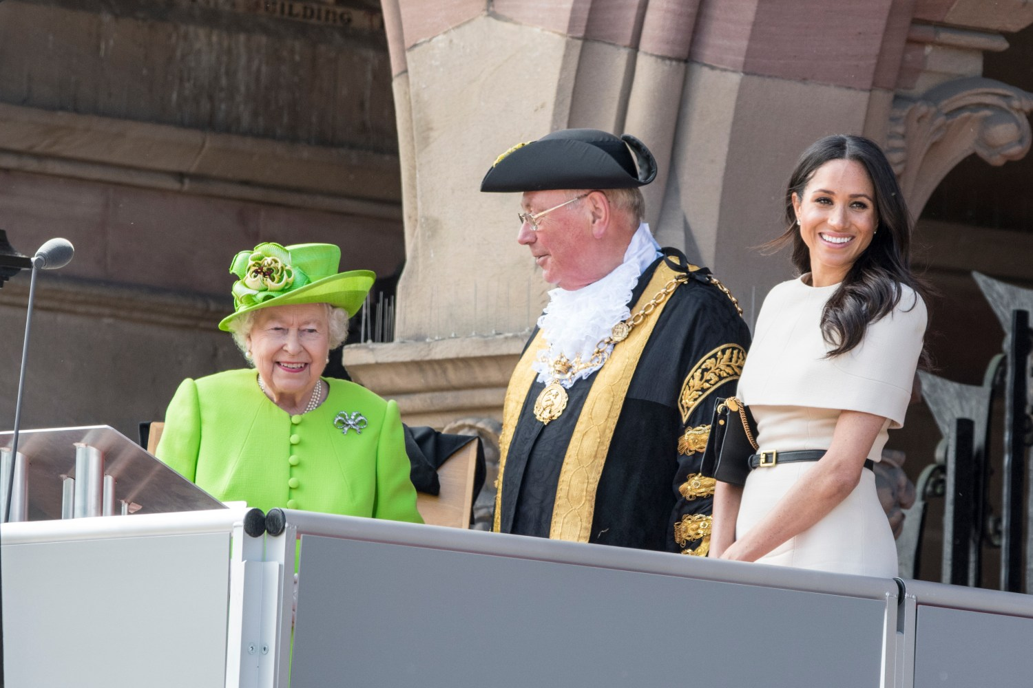 The Queen has agreed to allow The Duke and Duchess of Sussex to set up their own household. They are pictured on the Town Hall balcony during their visit to Chester (Benjamin Wareing)
