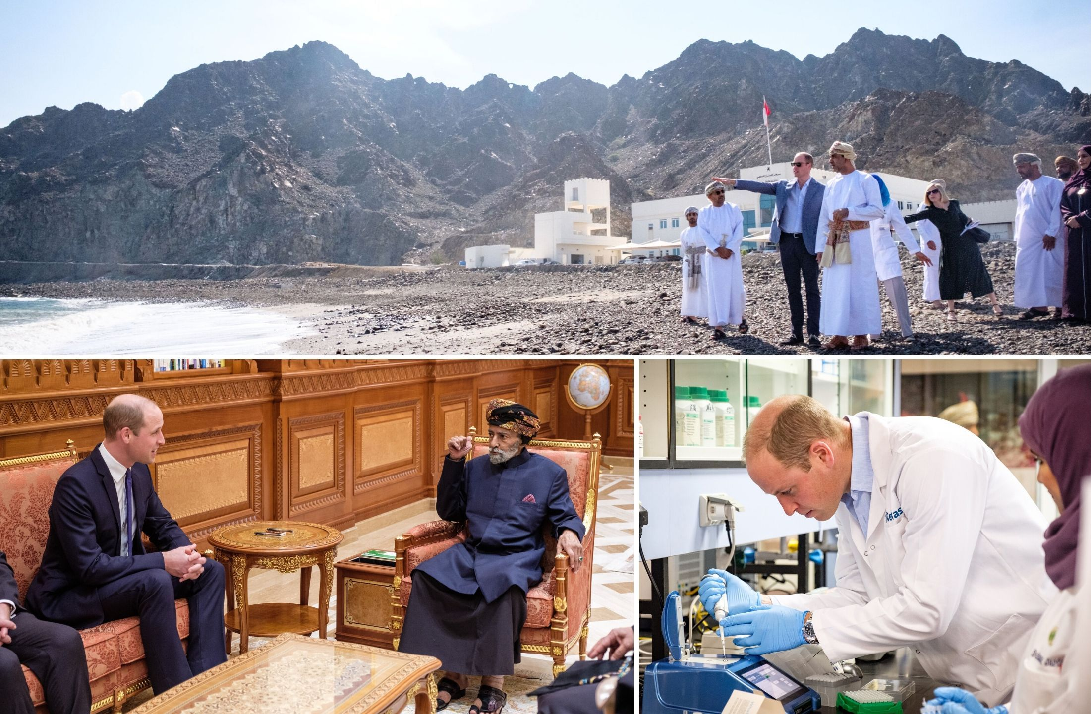 Fishing, local elders & young people for The Duke of Cambridge's final day in Oman