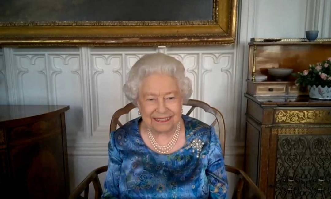 This is the second video call we have seen The Queen, 94, make in lockdown