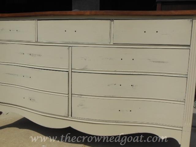062514-8 Old Ochre Dresser Makeover Painted Furniture