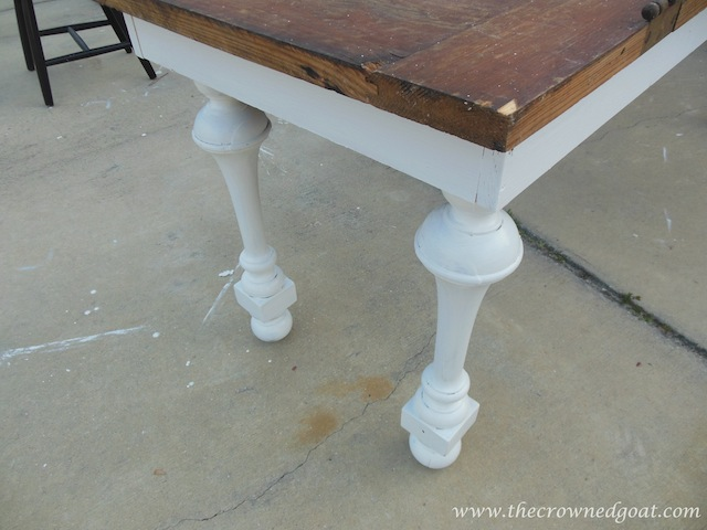 032414-7 Building a Console Table From an Old Door Painted Furniture