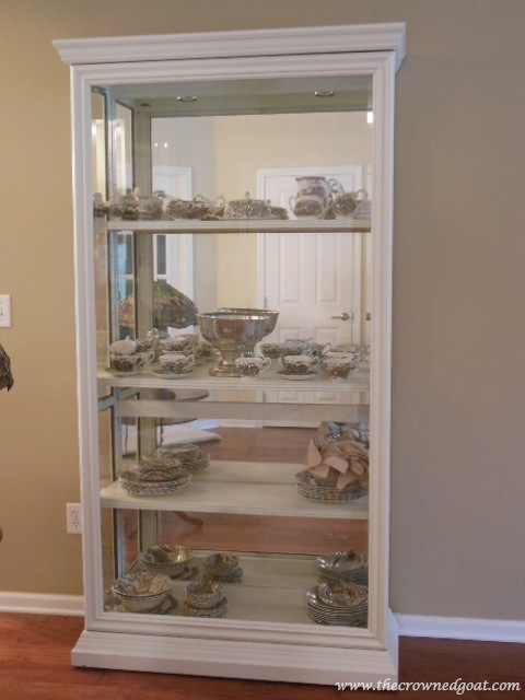 041814-6 One Project Leads to Another…Styling a China Cabinet Decorating