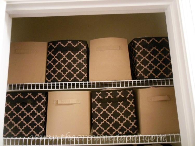 Dollar-Store-Linen-Closet-Organization-102214-8 Linen Closet Organization Organization