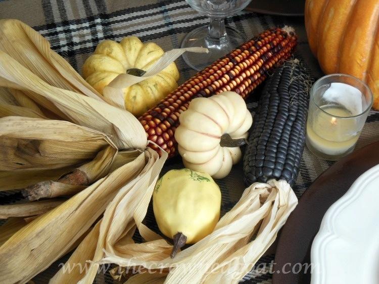 110514-4-Thanksgiving-Inspiration-Pumpkin-Gourd-Corn Thanksgiving Table Inspiration Decorating Holidays