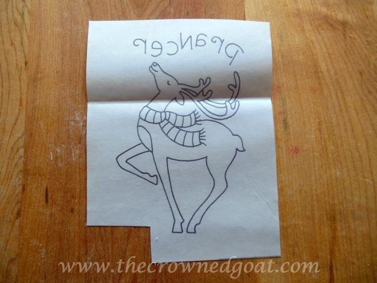 121714-21 Reindeer Flour Sack Towels Crafts Holidays