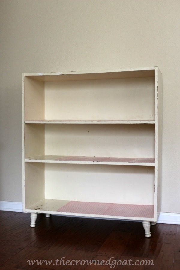 012015-1 Bookcase Update with Adhesive Paper Crafts