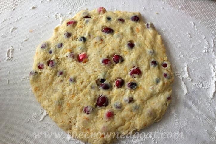 021215-12 Cranberry and Orange Scones with Orange Glaze Baking