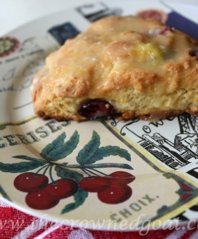 Cranberry and Orange Scones with Orange Glaze