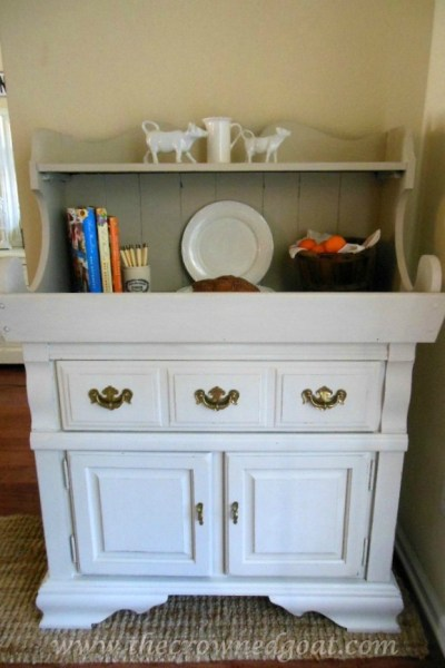 Dry Sink Painted in Lambs Wool
