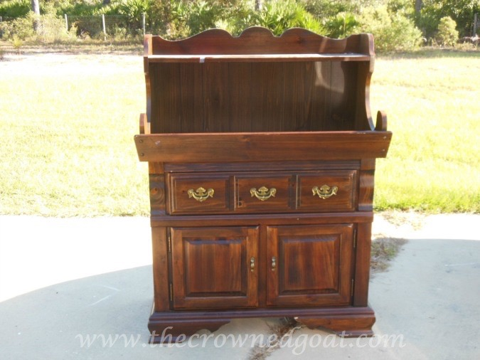 022415-2 Dry Sink Painted in Lambs Wool Painted Furniture