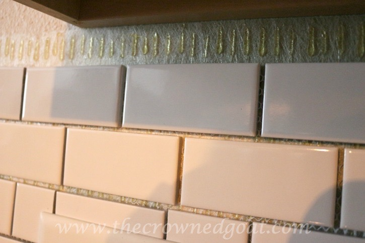 030315-12 Kitchen Diaries: Subway Tile Backsplash Grout Day 2 DIY