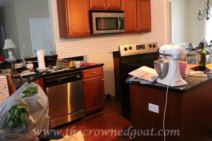 030415-1 Kitchen Diaries: Subway Tile Backsplash Grout Day 2 DIY