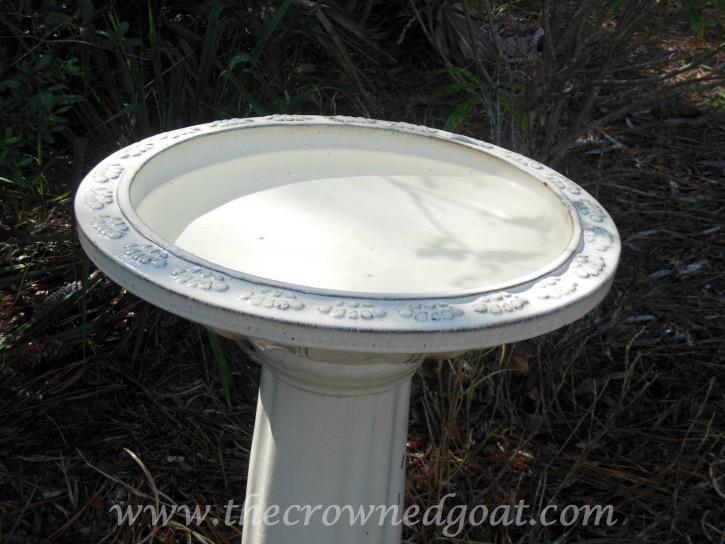 031115-7 How to Clean a Ceramic Glazed Birdbath DIY