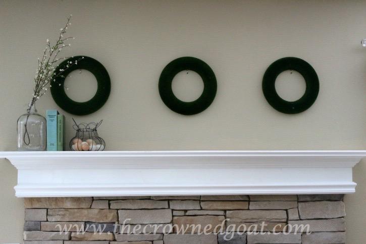 031715-1 Spring Inspired Mantle Decorating Holidays