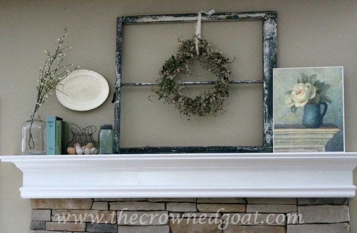 031715-6 Spring Inspired Mantle Decorating Holidays