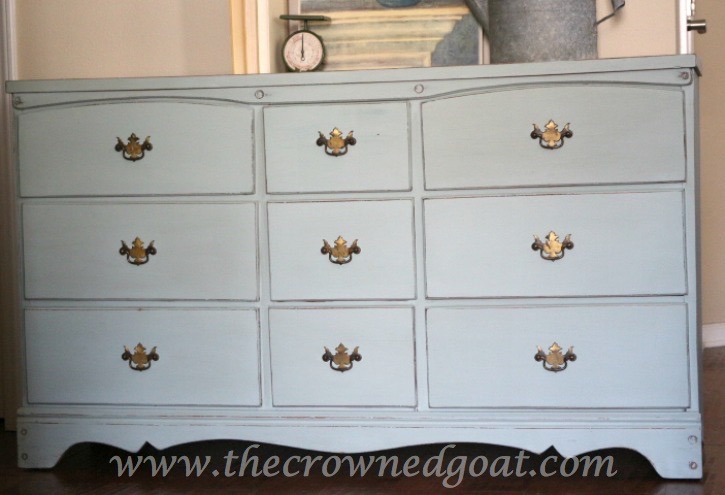 031815-7 Sea Glass Inspired Dresser Makeover Painted Furniture