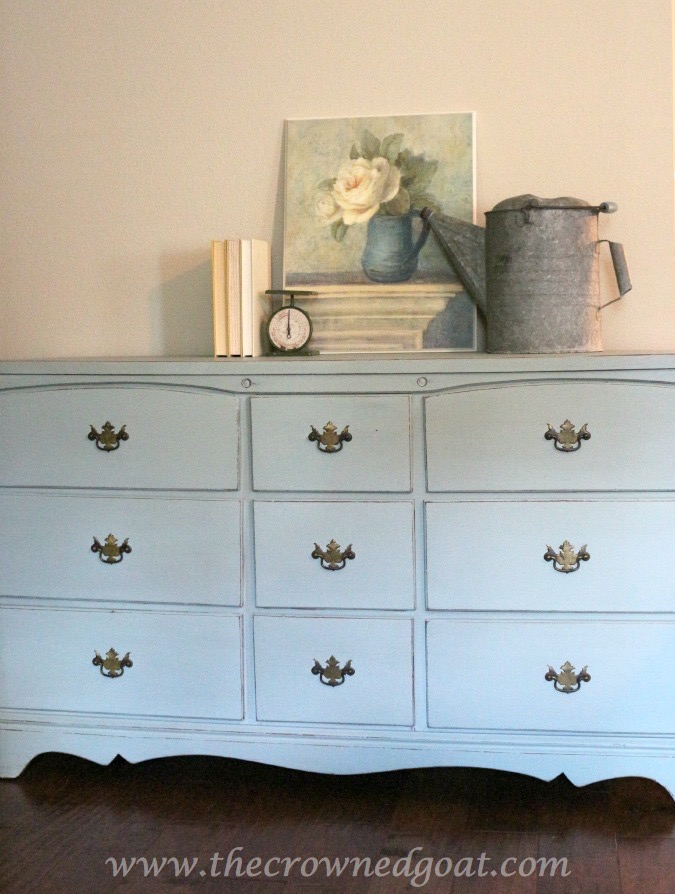 031815-8 Sea Glass Inspired Dresser Makeover Painted Furniture