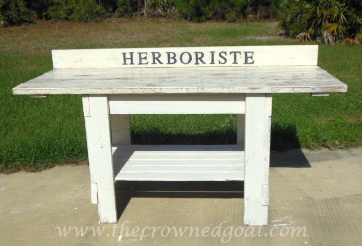041015-14 Herboriste Potting Station Painted Furniture