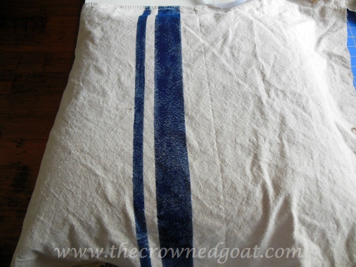 041415-8 How to Paint Grain Sack Stripes on a Drop Cloth Covered Chair DIY