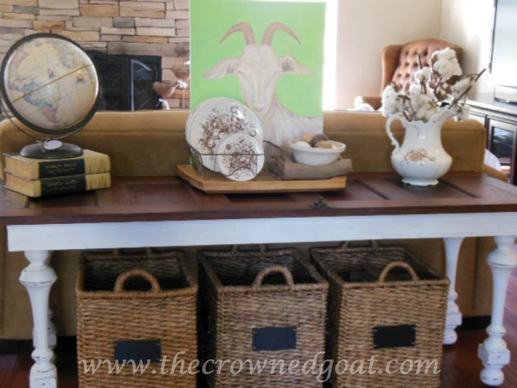 041615-10 How to Create a Console Table from an Old Door DIY Painted Furniture