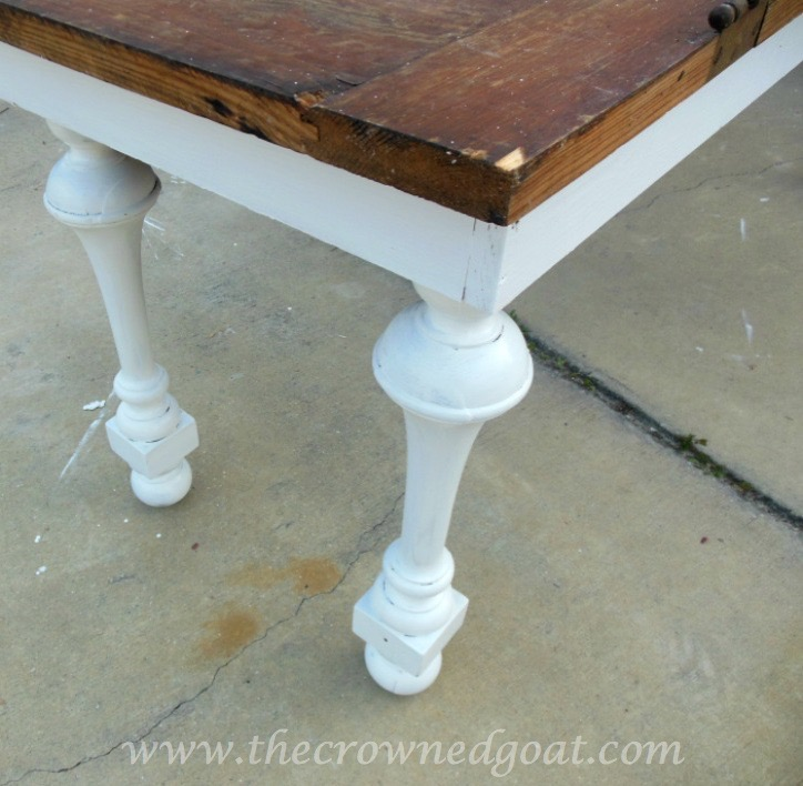041615-7 How to Create a Console Table from an Old Door DIY Painted Furniture