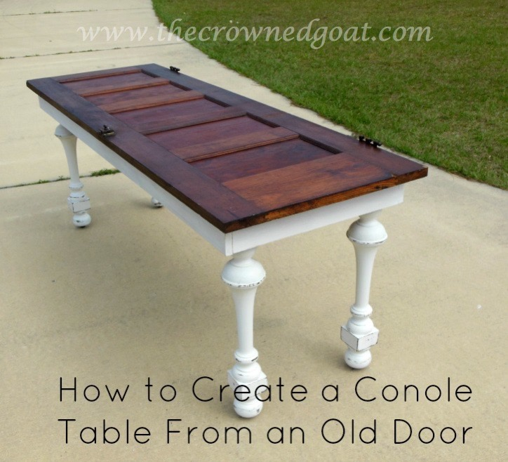 041615-9 How to Create a Console Table From an Old Door