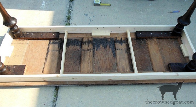 How-to-Ceate-a-Console-Table-From-an-Old-Door-The-Crowned-Goat-5 How to Create a Console Table from an Old Door DIY Painted Furniture