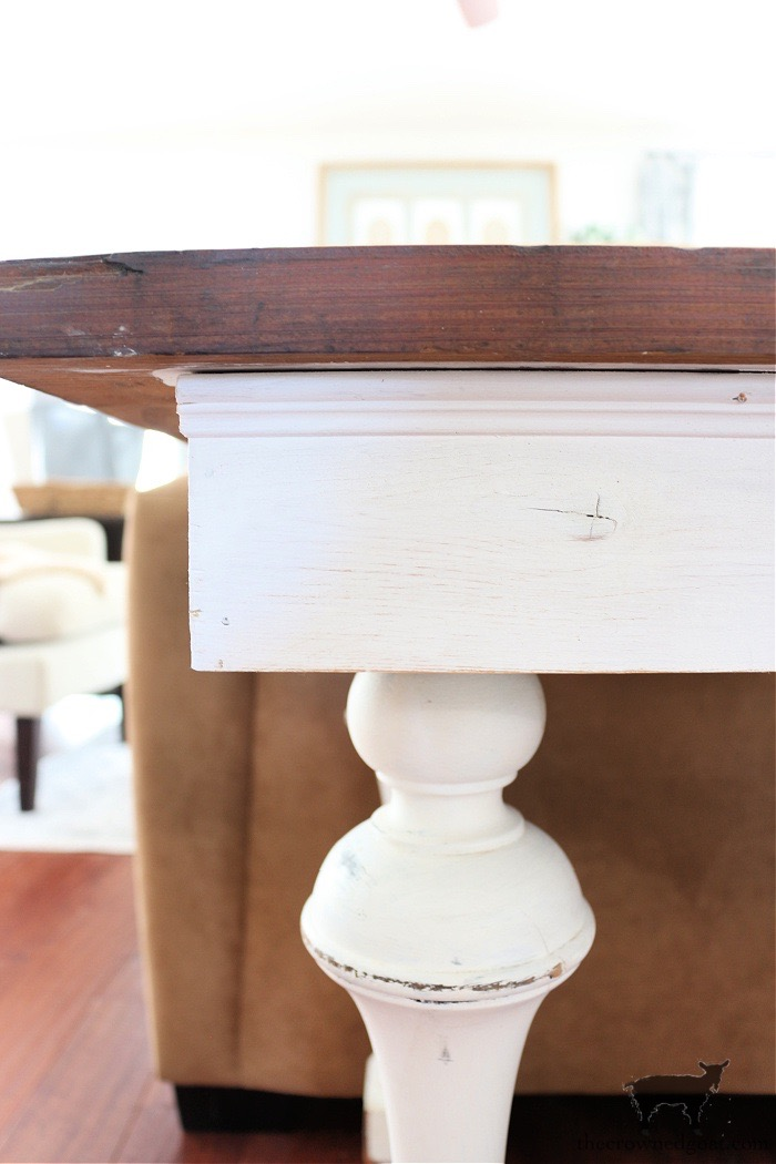 How-to-Ceate-a-Console-Table-From-an-Old-Door-The-Crowned-Goat-6 How to Create a Console Table from an Old Door DIY Painted Furniture