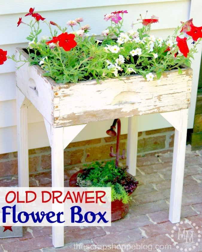 old-drawer-flower-box-823x1024 Something to Talk About Link Party #17 LinkParty
