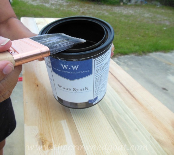 060315-4 Weatherwood Stained Cabinet DIY Painted Furniture