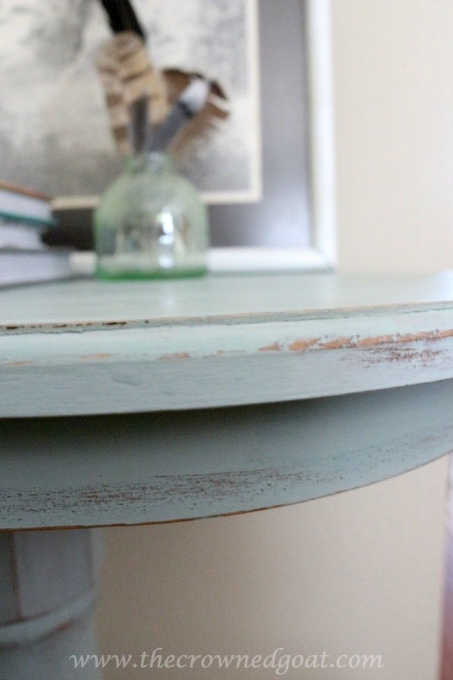061015-6 Duck Egg Painted Entry Table  Painted Furniture