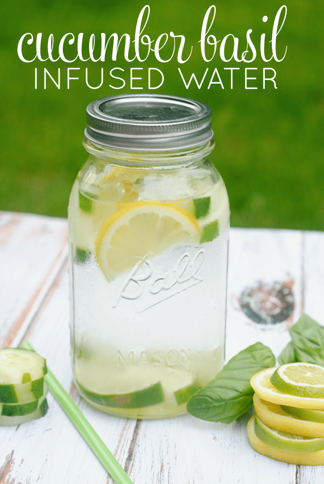 Cucumer-Basil-Infused-Water-Recipe Something to Talk About Link Party 20 LinkParty