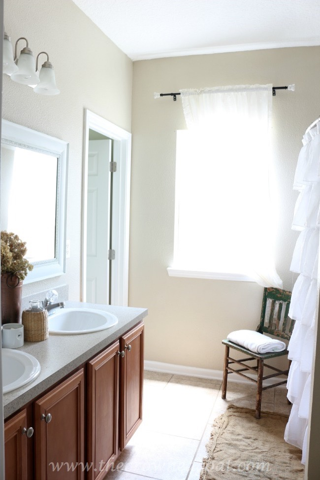 Neutrals Inspired Bathroom Makeover - The Crowned Goat - 062415-15