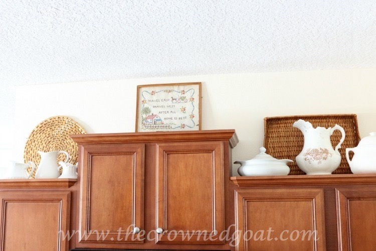 Upper-Cabinet-Decorating-The-Crowned-Goat-061615-5 Simple Kitchen Updates   Decorating