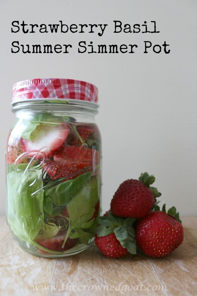 Strawberry Basil Summer Simmer Pot - The Crowned Goat - 072415-7