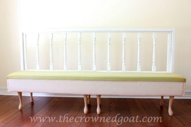 082615-9 Americana DECOR Chalky Finish Painted Bench in Everlasting DIY Painted Furniture