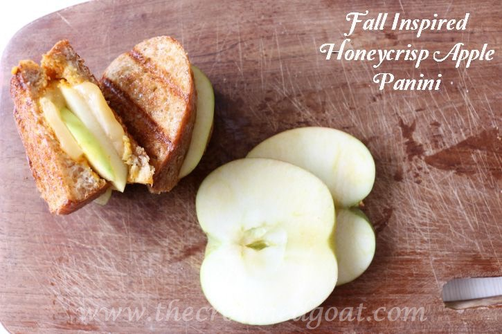 Fall Inspired Honeycrisp Apple Panini - The Crowned Goat