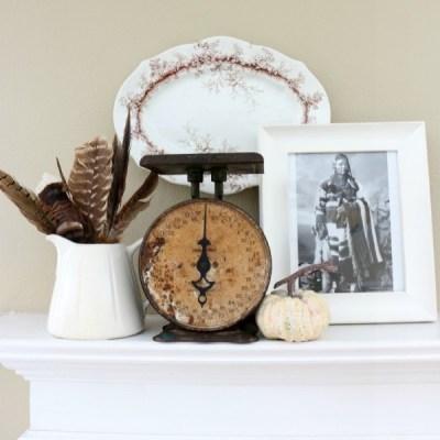 Thanksgiving Inspired Mantel