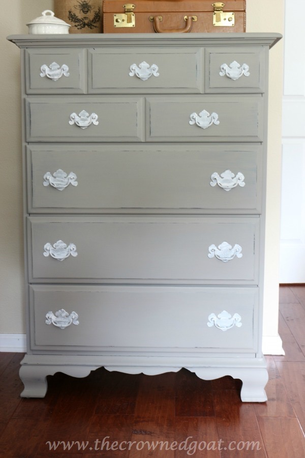 110615-7 French Linen Painted Dresser Painted Furniture
