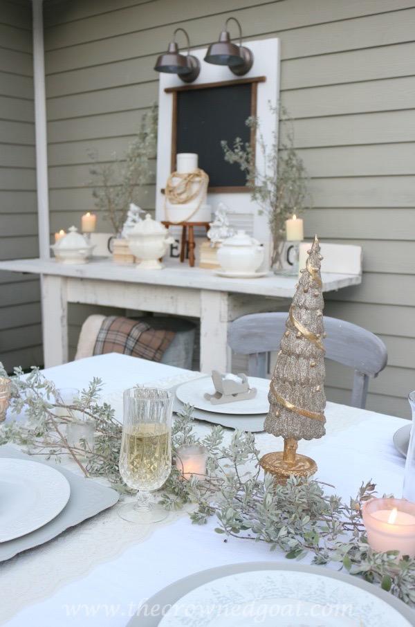 120315-6 White Christmas Inspired Patio Christmas Decorating Holidays