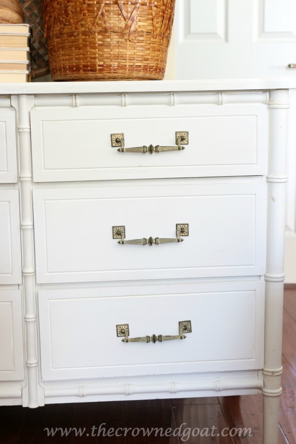 021616-7 Annie Sloan Chalk Painted Dresser in Pure White