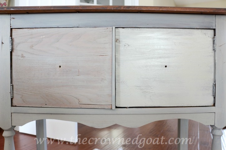 022416-10 French Linen Painted Nightstand Painted Furniture