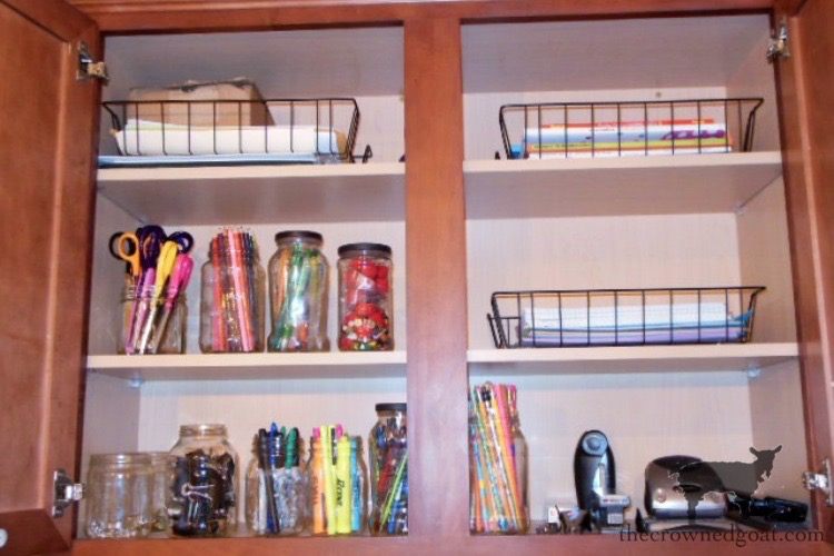 How-to-Organize-a-Kitchen-Desk-The-Crowned-Goat-3 How to Organize a Kitchen Desk Organization