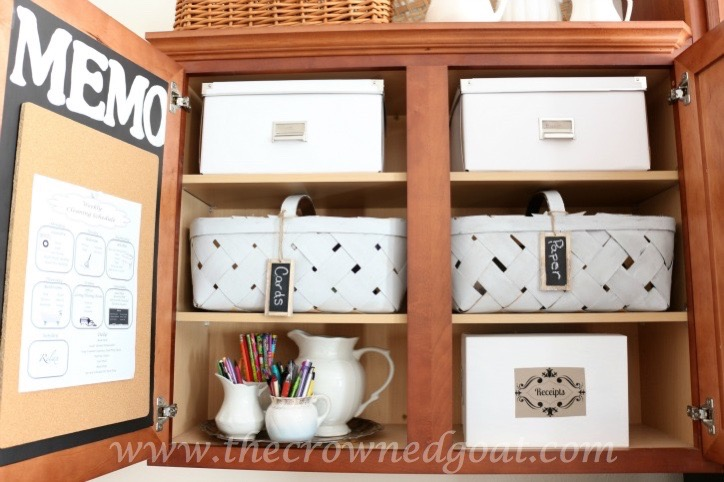 How-to-Organize-a-Kitchen-Desk Indoor Coffee Station Updates Decorating DIY