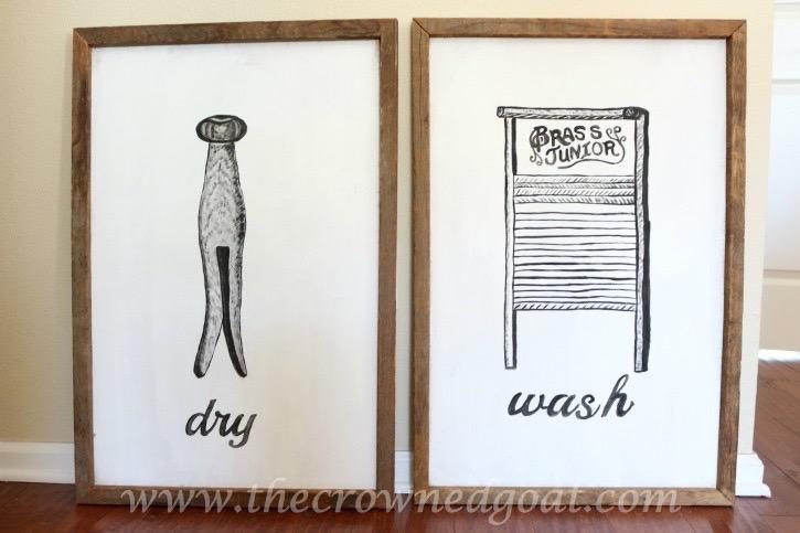 030916-17 How to Create Laundry Room Art DIY