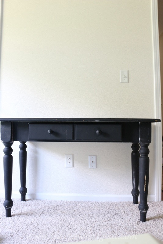041316-1 Desk and Hutch Makeover DIY Painted Furniture