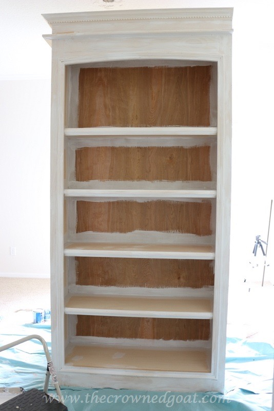 041816-6B Custom Office Bookcases DIY Painted Furniture