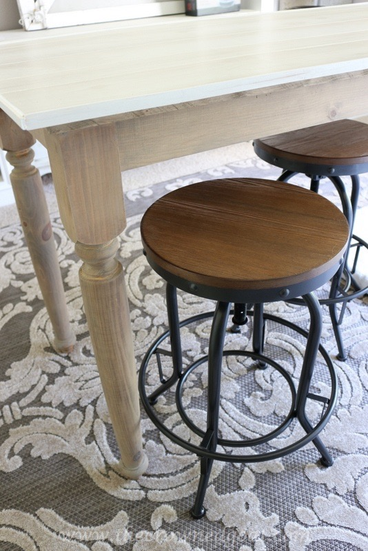 050316-1 DIY Chalk Painted Office Chair and Weathered Barstools Uncategorized