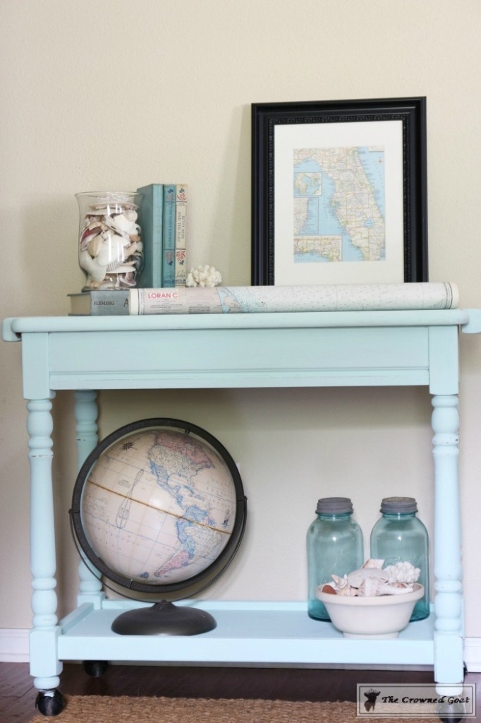 Beach Cottage Inspired Painted Table - 14